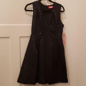 Black A-line party dress